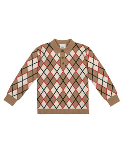 Argyle wool and cashmere sweater