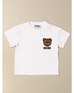 t-shirt in cotton with teddy embroidery