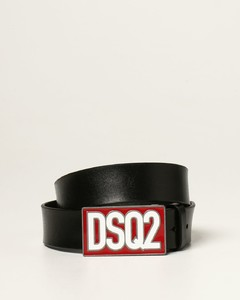belt with logo plaque