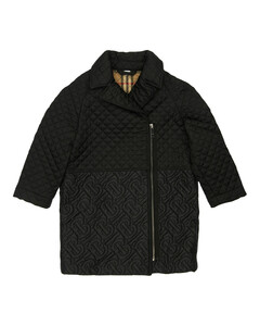 Quilted Logo Nylon Coat