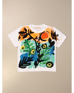 cotton T-shirt with big print