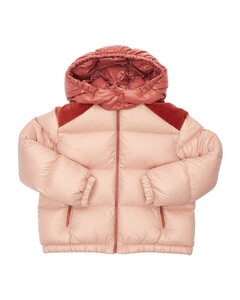 Chouelle Hooded Nylon Down Jacket