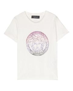 Logo colorblocked padded coat