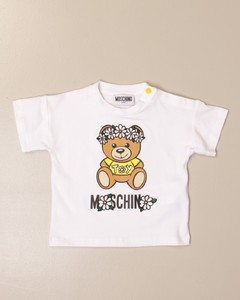 cotton t-shirt with big teddy flowers