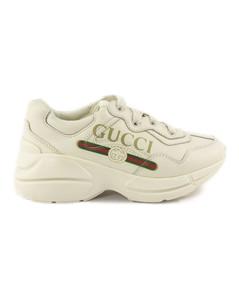 Rhyton Ivory Leather Sneaker