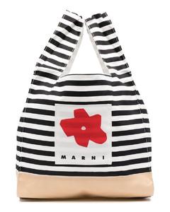 条纹logo购物袋