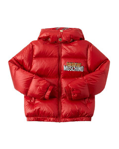 Logo Printed Nylon Down Jacket
