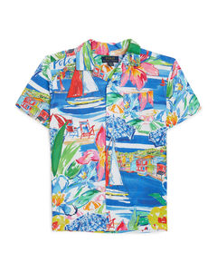 fisherman's hat in check canvas
