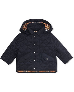 Diamond Quilted Hooded Jacket