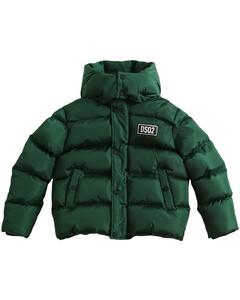 Logo Print Hooded Nylon Puffer Jacket