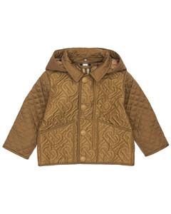 All Over Logo Nylon Puffer Jacket