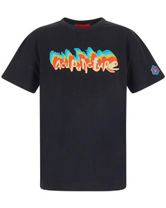 Logo-embroidered wool jacket