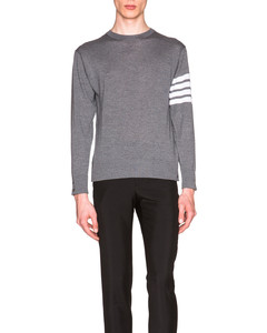 Classic Merino Crewneck Sweater in Grey