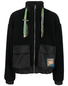 camouflage-print padded jacket