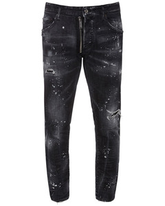 16cm Skater Zip Cotton Denim Jeans