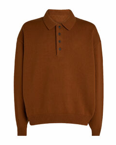Wool Knitted Polo Shirt