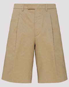 Beige Cotton Chino Shorts