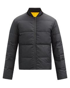 Reversible logo-appliquéquilted down jacket