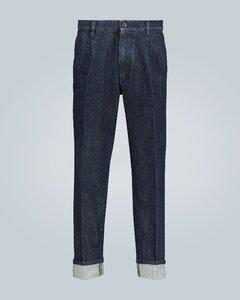 Wide-leg selvedge jeans