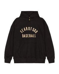 Baseball Hoodie in Black