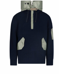 Drawstring Hooded Knit Sweater