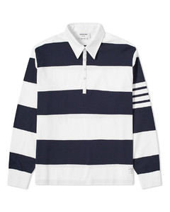 Oversized 4 Bar Rugby Shirt