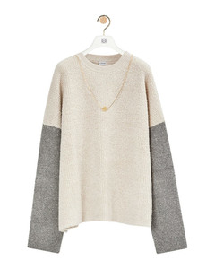 Chain sweater in wool and cashmere