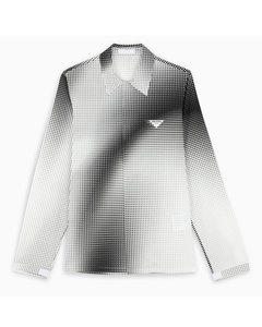 Black and white Digital Square shirt