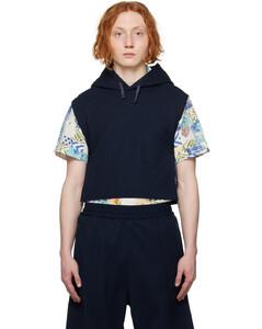 黑色皮革双排扣大衣