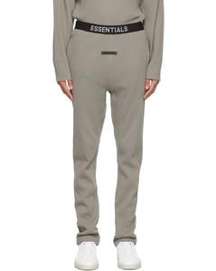 灰色Thermal徽标运动裤