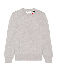 Relaxed Fit Crewneck Sweater in Light Grey