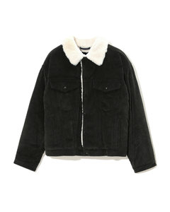 Fleece collar corduroy jacket