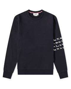 Embroidered 4 Bar Crew Sweat