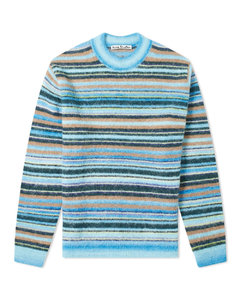 Nosti Seasonal Stripe Mohair Crew Knit