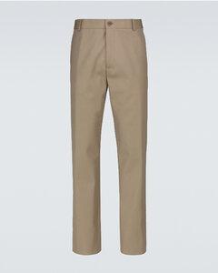 棉羊毛斜纹裤