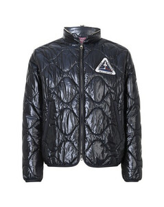 Quilted Patch Blouson with packable hood