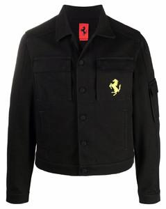 黑色叠层单排扣大衣