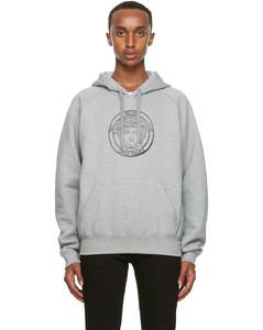 灰色Medusa College-Fit连帽衫