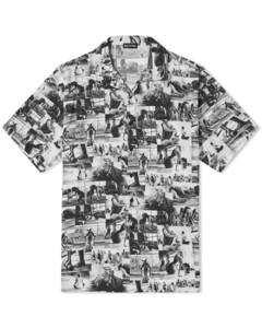 Yoga Print Vacation Shirt