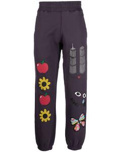 Back Circle Logo Zip-up Hoodie Black