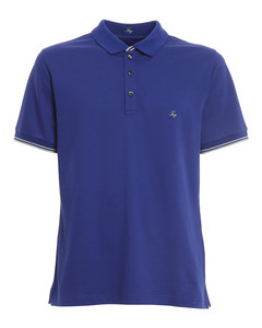 Logo lettering embroidery polo