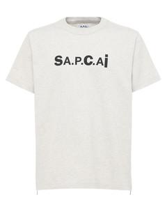 Sacai Kiyo Logo Printed Cotton T-shirt
