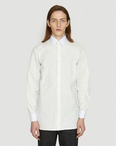 Detachable Collar Shirt in White