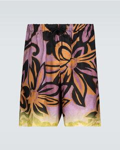 花卉印花短裤
