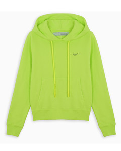 Acid green Off White hoodie