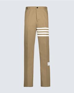4-Bar棉质斜纹布裤装