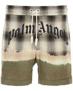 Bermuda Shorts Palm Angels for Men Beige White