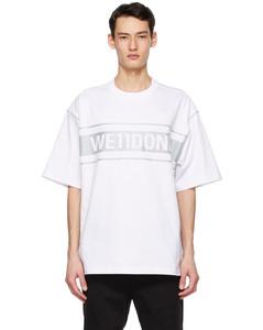 白色Reflective Logo T恤