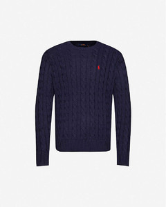 Logo-embroidered cotton-knit jumper