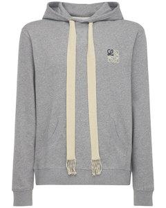 Anagram Cotton Jersey Sweatshirt Hoodie
